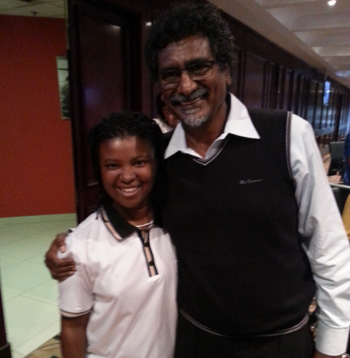 Cde Jay Naidoo after he was released
