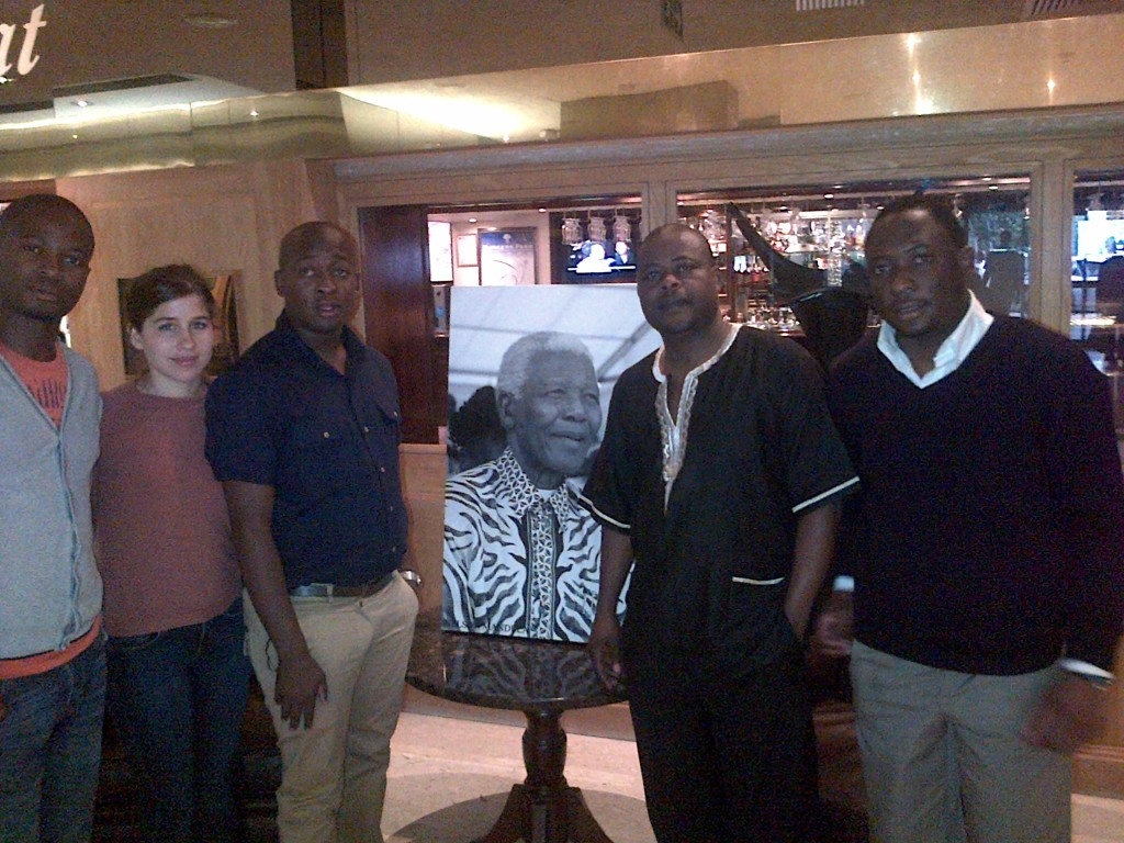 SALO staff at Burgers Park Hotel, Pretoria upon receiving the sad news of the passing on of the former President, Nelson Mandela.
