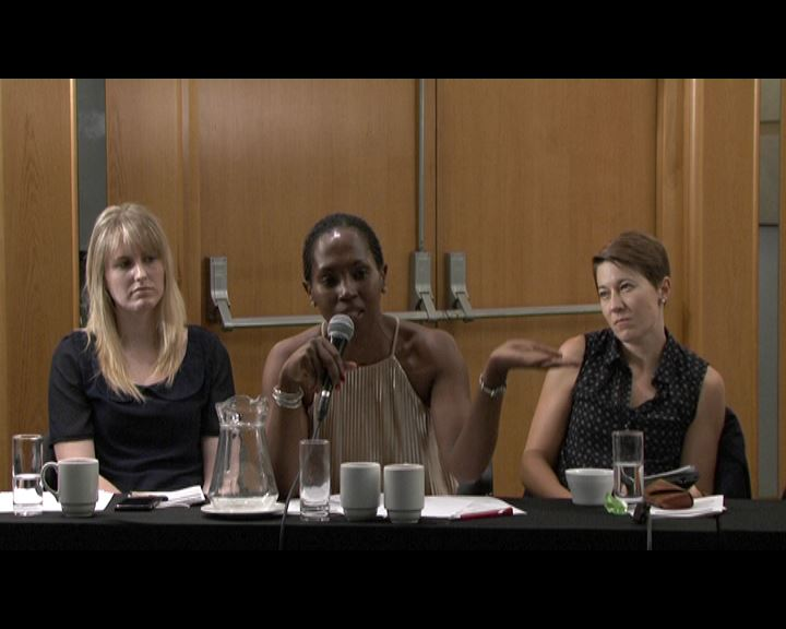 From left to right: Ms Holly  McGurk – National Project Coordinator, UNASA; Ms Litlhare Rabele - Programme Coordinator: Peace, Security and Gender, HURISA; Ms Natalie Jaynes - Project Officer: Human rights and LGBTI, Open Society Foundation (OSF-SA)