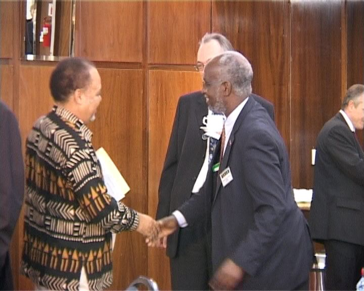 The acting head of the World Bank in Zimbabwe and Dr Ibbo ...