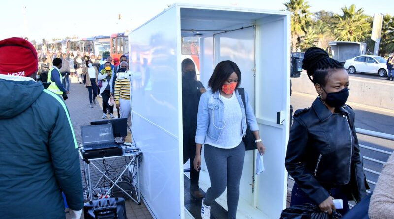 """""""Minister Fikile Mbalula inspects Rea-Vaya buses and stations as part of Coronavirus Covid-19 safety measures"""" by GovernmentZA is licensed under CC BY-ND 2.0"""
