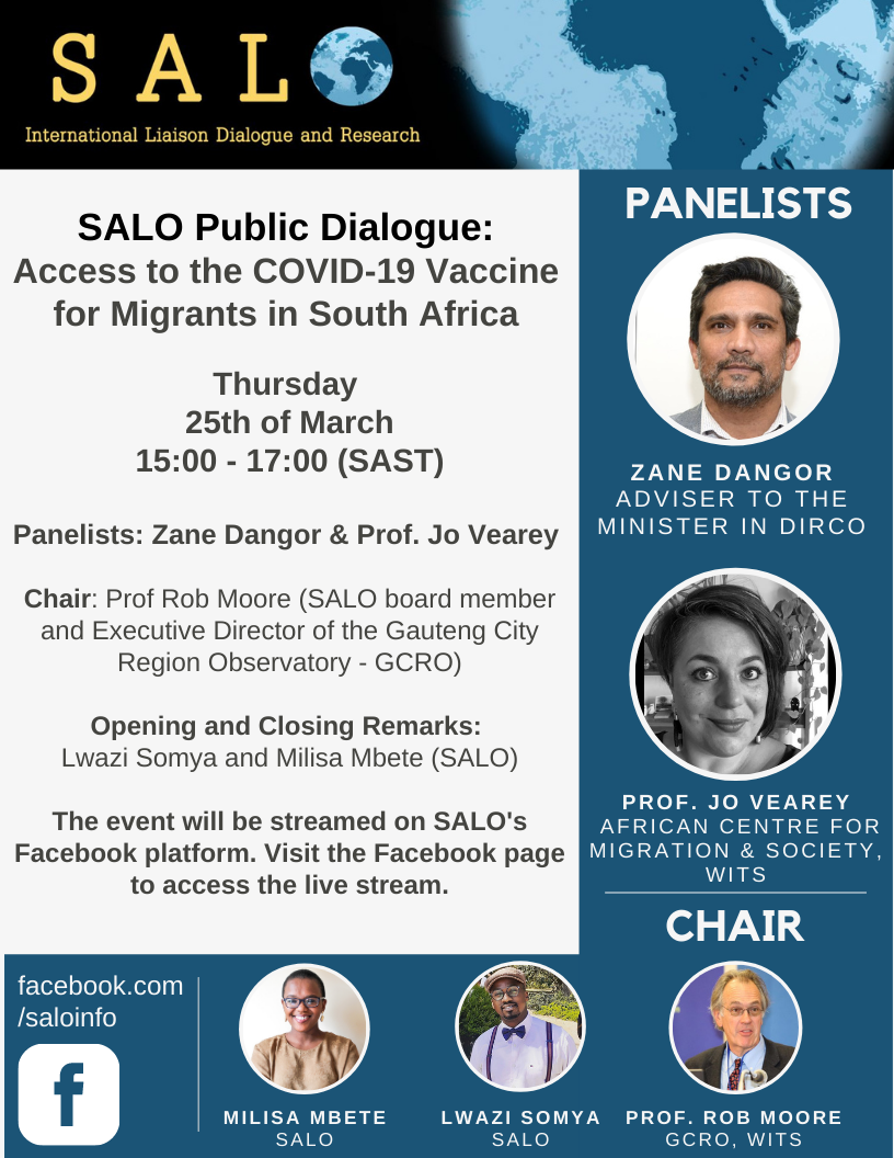 Policy Brief-25 March 2021, Zoom Platform: Access to the Covid-19 Vaccine for Migrants in South Africa