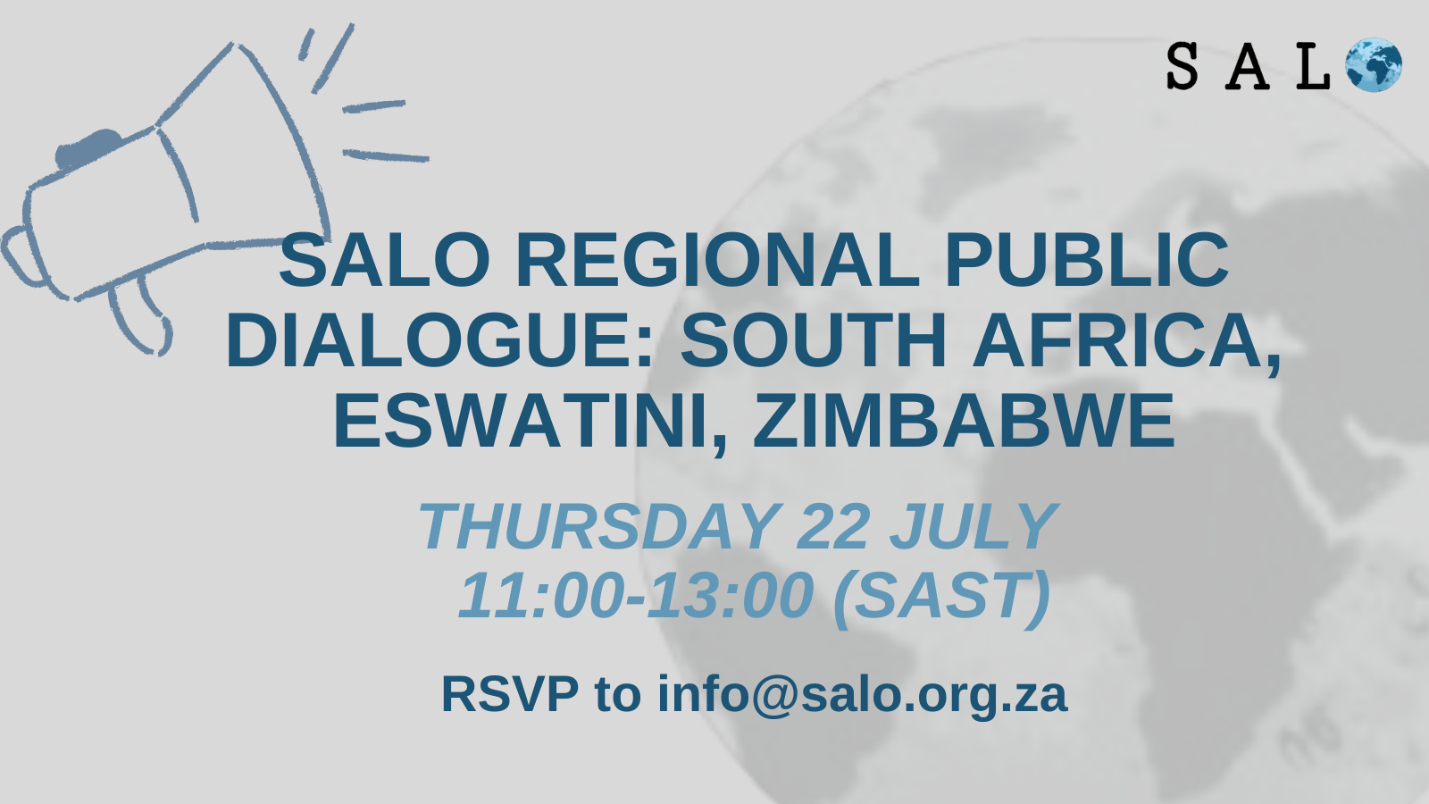 SALO Regional Public Dialogue: South Africa, eSwatini, Zimbabwe. – 22 July 2021